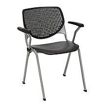 Perforated Back Poly Stack Chair with Arms - 400 lb. Capacity, 8814357