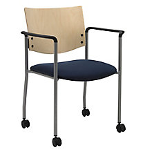 Mobile Wood Back Guest Chair, 8822658