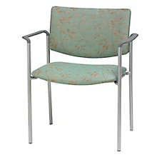 Armless Extra Wide Guest Chair in Fabric, Polyurethane or Faux Leather, 8814199