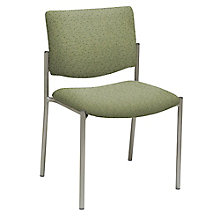 Armless Guest Chair in Fabric, Polyurethane or Faux Leather, 8814206