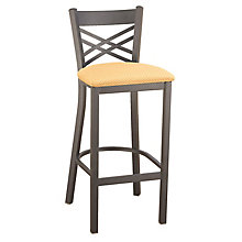 Cafe Stool with X-Back and Steel Frame, KFI-BR3310U