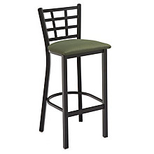 Cafe Stool with Steel Frame and Padded Seat, KFI-BR3312U