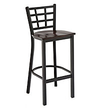 Cafe Stool with Wood Seat, KFI-BR3312W