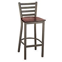 Ladder Back Cafe Stool with Wood Seat, KFI-BR3316W