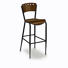 Wood and Metal Break Room Stool, KFI-BR3818A