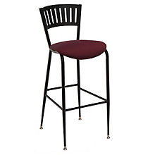 Cafe Stool with Steel Frame and Padded Seat, KFI-BR3818LAU