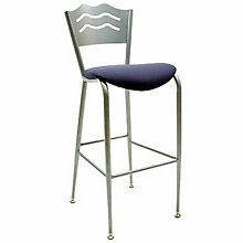 Cafe Stool with Steel Frame and Padded Seat, KFI-BR3818LBU
