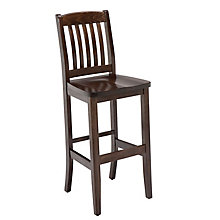 All Wood Cafe Stool with Slat Backrest, KFI-BR4400W