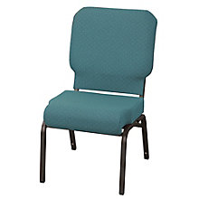 Armless Fabric Wing Stack Chair with Waterfall Seat, 8813870