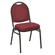 Vinyl Stack Chair Black Frame, 8802840