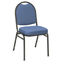 Fabric Stack Chair Black Frame, 8802850