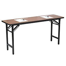 "TFD Series Medium Oak Training Table - 18"" x 72"", 8802841"