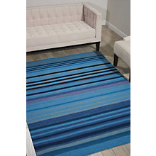 kathy ireland by Nourison Blue Tone Stripe Area Rug 8'W x 10.5'D, 8803829