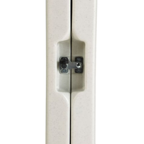 Hinge lock to secure table in closed position