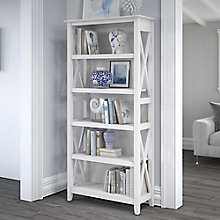 Bush Furniture Key West 5 Shelf Bookcase, 8828884