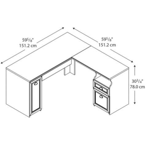 Dimensions of desk