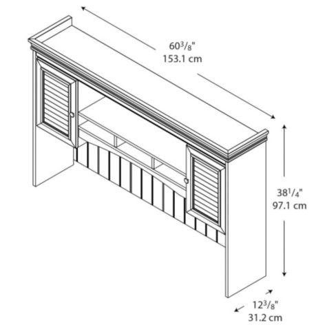 Dimensions of hutch