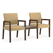 Brooklyn Guest Chairs in Fabric with Connecting Table, 8804627