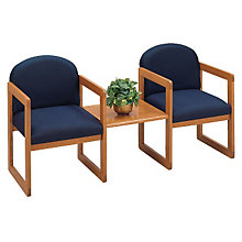 Two Chairs with Center Table Set, LES-C2311G3