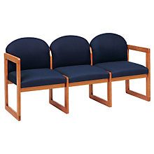 Fabric Round Back Three Seater, LES-C3301G3