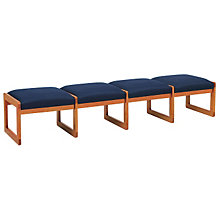 Fabric Four Seat Bench, LES-C4001B3
