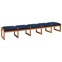 Fabric Five Seat Bench, LES-C5001B3