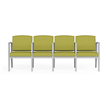 Amherst Steel Fabric Four Seat Guest Chair with Center Arms, 8814233