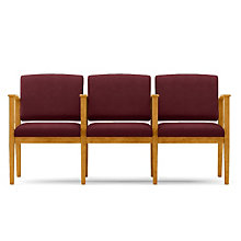 Amherst Three Seat Fabric Loveseat with Center Arms, LES-K3403G5F