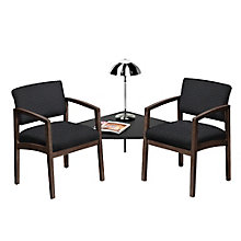 Lenox Two Chairs with Corner Connecting Table in Fabric, 8825892