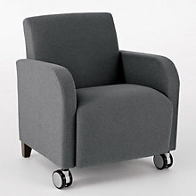 Siena Guest Arm Chair with Casters, LES-Q1401C3