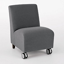 Siena Armless Chair with Casters, LES-Q1402C3