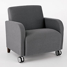 Siena Big and Tall Guest Arm Chair with Casters, LES-Q1601C3