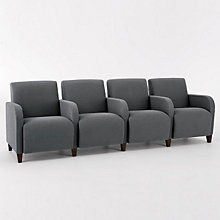 Siena Four Seat Sofa with Center Arms, LES-Q4403G3