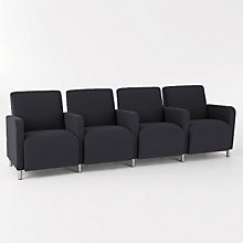 Ravenna Four Seater with Center Arms, LES-Q4403G8