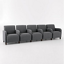 Siena Five Seat Sofa with Center Arms, LES-Q5403G3