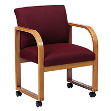 Fabric Full Back Guest Chair with Casters, LES-R1401C3