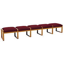 Fabric Five Seat Bench, LES-R5001B3