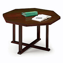 "Solid Oak 42"" Octagonal Conference Table, 8804881"