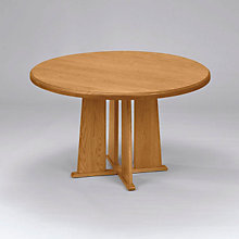 "Solid Oak Round Conference Table with Bullnose Edge - 48"", 8802877"