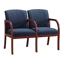 Transitional Fabric Two Seater with Center Arm, LES-W2303G5