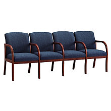 Transitional Fabric Four Seater with Center Arms, LES-W4303G5