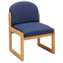 Round Back Armless Guest Chair, LES-C1302G3
