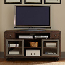 Avignon Mobile TV Console with Glass Doors, 8803087