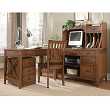 "Hearthstone Writing L-Desk and Hutch - 44""W, 8803395"
