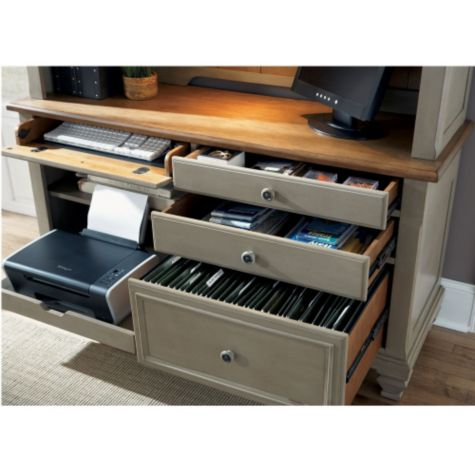 Close up of credenza drawers