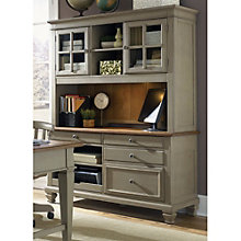 "Bungalow Four Drawer Credenza and Glass Door Hutch - 60""W, 8803393"