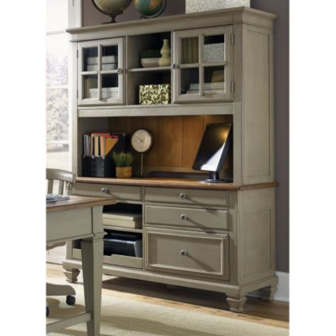 Driftwood & taupe finish shown with optional hutch