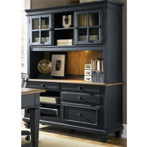 Driftwood & black finish shown with optional hutch