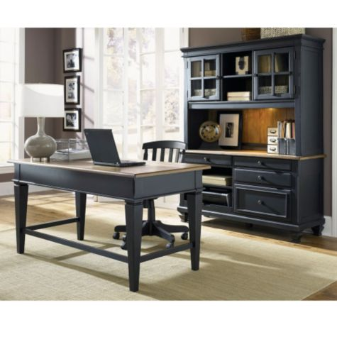 Driftwood & Black shown in a home office