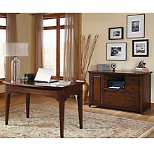 Leyton I Writing Desk and Credenza Set, 8802159